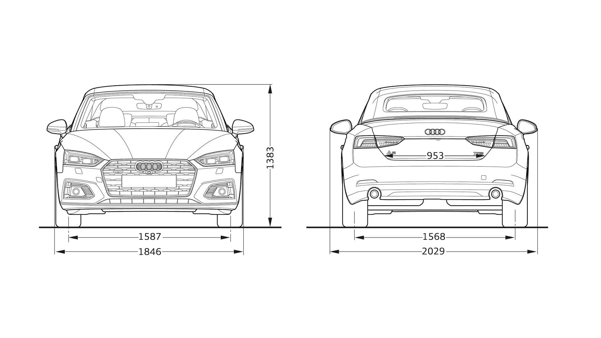 Audi A5 Cabriolet dimensions > Audi A5 Cabriolet 2019 ...